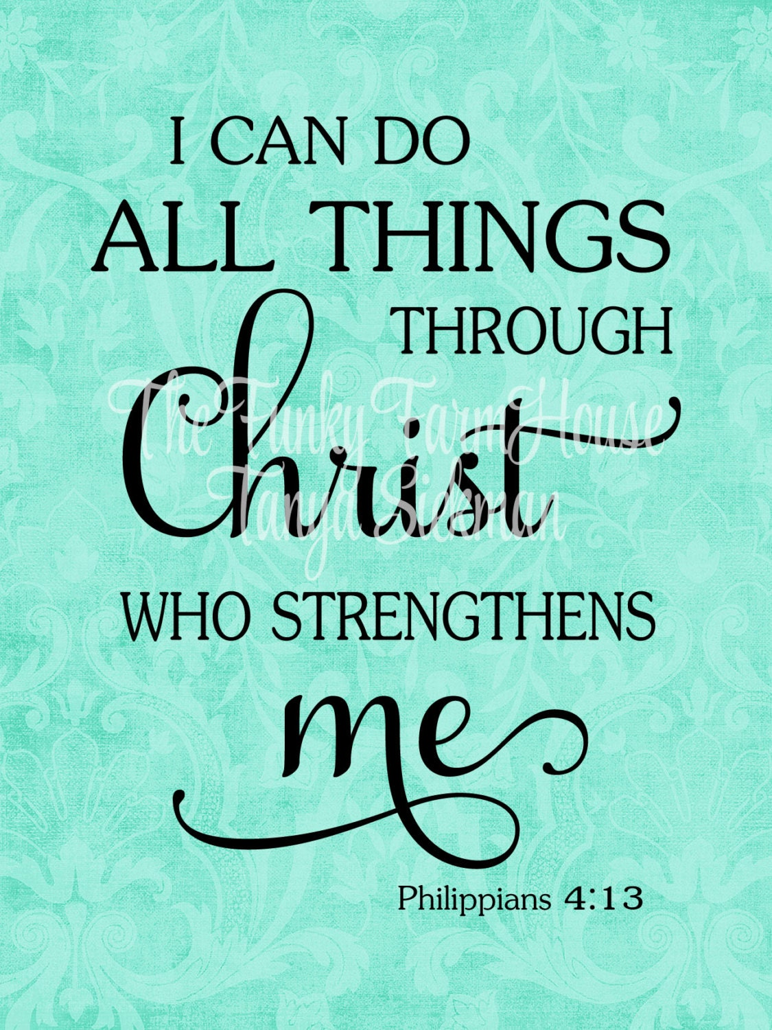 SVG DXF PNG I Can Do All Things Through Christ Who