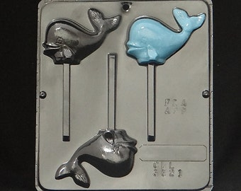 Whale Lollipop Chocolate Candy Mold 3321