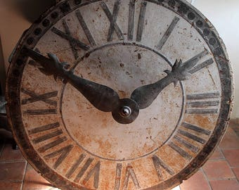 Large 19th century church clock dial.
