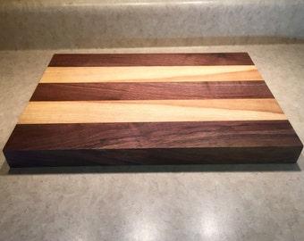 Walnut and Ash board, Chopping block, Cheese board, Bread board, Hardwood cutting board, Durable cutting board, Handmade