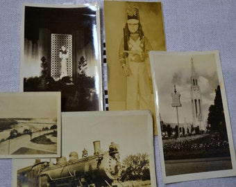 Vintage Photpgraphs Black White Sepia Set of 5 Vintage Decor PanchosPorch