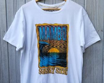 Rare! Mambo Sunset Static TShirt Large Size Made in Australia