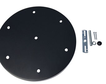 "Black Multi Port Canopy Kit , 12"" Diameter, 6 Hole Canopy by Industrial Rewind™"
