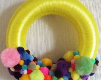 Large Half pom pom wreath
