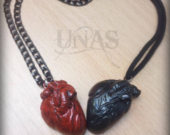 Anatomical Organ Heart Necklace Gift for Anatomy Lovers Valentines Surgeon Doctor Nurse