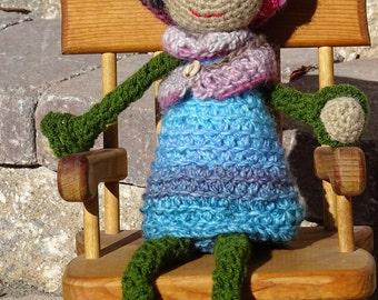 Crochet Doll, Amigurumi Doll, Crochet Girl Doll, Amigurumi Toy, All Handmade, Ready to Ship, Soft Doll, Stuffed Doll, Kids Toy, Doll