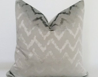 Silver Velvet Pillow Cover,Gray Velvet Pillow Cover,Metallic Pillow,Grey Pillow ,Grey Velvet Pillow,Geometric Velvet Pillow Cover