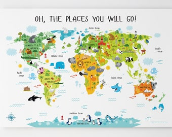 World map canvas etsy world map canvas unique baby gifts map of the world christmas gift for gumiabroncs Image collections