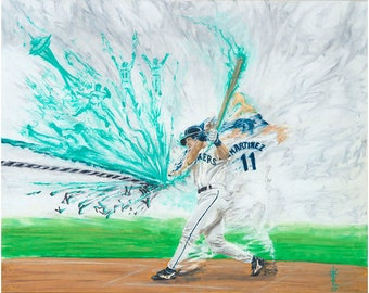 "Edgar Martinez 8x10 Print, ""Make it a Double"", by Ryan O'Keefe"