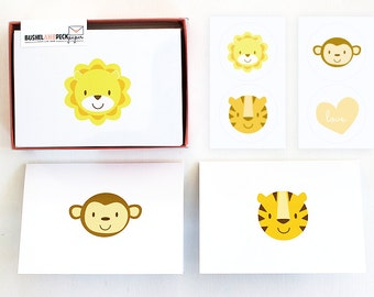 Baby Animal Stationery Set - #Lions #Tigers #Monkeys