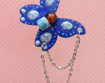 Doll Butterfly chain necklace