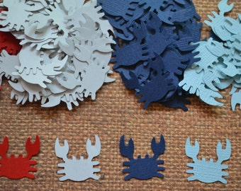 """Crab Punches, Crab Cut Outs, Scrapbooking, Embellishments (3/4"""") 