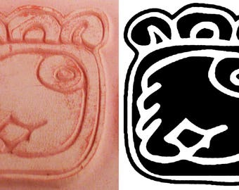 Mayan Hieroglyphic Design Stamp #6 for Polymer Clay, PMC, Ceramic Clay, Scrapbooking - Mayan Symbolic Hieroglyphic Design Stamp for PMC Clay