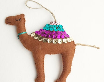 Felt Camel Decoration / Christmas Decoration / Party Favour