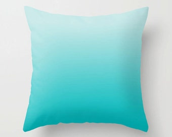 Blue throw pillow, decorative pillow, turquoise pillow, Minimalist modern home decor, accent cushion (253)
