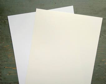 "100 Sheets White Card Stock, 8.5x11"" Cardstock, 100% Recycled 8 1/2x11"" (216x279mm) 80-100lb. cover stock, white or natural white/off-white"