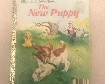 Vintage The New Puppy Little Golden Book
