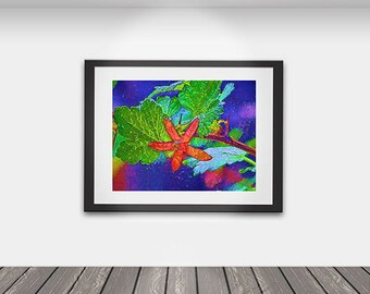 Abstract Art/Abstract Art Print/ Wall Art/ Flowers/ Painted Flowers/  Card Making Supplies/ Digital - You Print
