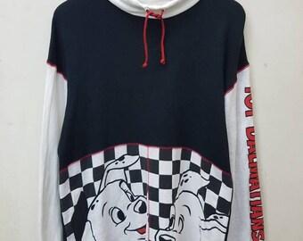 Vintage Sweatshirts Disney 101 Dalmatians Drama Film/ Adventure  Nice Design