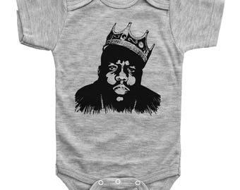Biggie Baby Onesie, Notorious BIG Onesie, Rap Onesie, Biggie Baby Bodysuit, Newborn Outfit, Unisex Baby Clothes, Biggie Smalls Onesie
