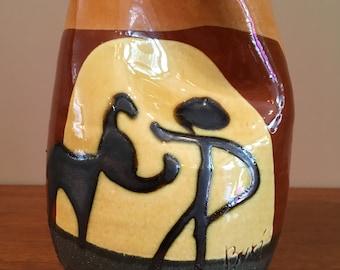 Ceramic vase signed Buxo