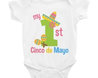 First Cinco De Mayo, baby onesie, mexico