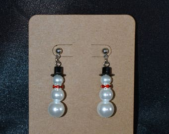 Large Snowman Earrings