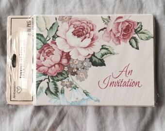 Floral Invitations // Vintage Invitations // Vintage Party Invitations (B14)
