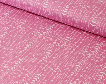 Pink Floral Print Cotton Fabric, Quilting Fabric,Quilting Cotton Fabric,Patchwork Fabric,100% Cotton - Fat Quarter