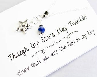 Star Charm Necklace - Star in the Sky Necklace - Shine Bright Star Necklace -Whimsical Star Necklace - SCC893