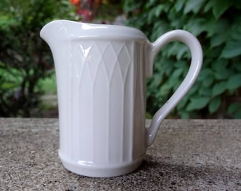 Vintage Gothic USA White Creamer // Cottage Farmhouse Kitchen