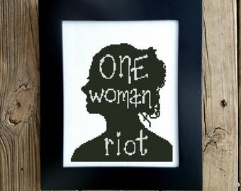Female Empowerment Cross Stitch Pattern - Feminist Embroidery - Silhouette Cross Stitch - Strong Women - Counted Cross Stitch, Printable PDF