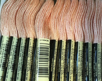 DMC 754 Light Peach Embroidery Floss 2 Skeins 6 Strand Thread for Embroidery Cross Stitch Needlepoint Sewing Beading