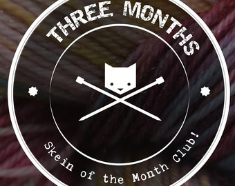 Yarn of the Month Sock Yarn Club Subscription |  Exclusive Hand-Dyed Yarn | Monthly Surprise Mystery Yarn | 3 Month (Start July 2018)