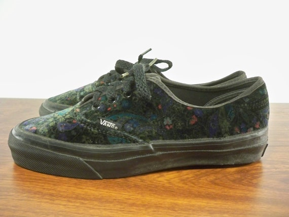 8 Shoes SKOOL USA Kicks in Made Skate Top Size Floral OLD Vans Sneakers Low Velvet Women's Vintage UwEq8a6xE