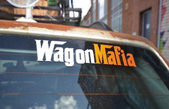 Wagon mafia funny station wagon sticker decal