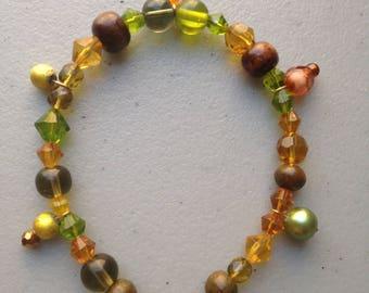 Fall Harvest Bead Bracelet