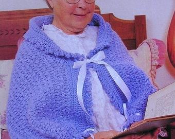 Crochet Pattern LADIES WOMANS Shoulderette Misses Shrug Nice Gift