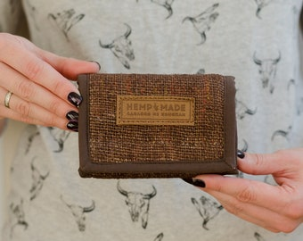 Brown Hemp Wallet, hemp purse