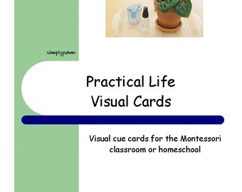 Montessori Visual Schedule Cards - Practical Life