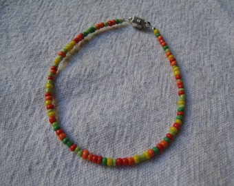 Early Autumn Colors bracelet, Slim Stacking Bracelet, Layering Bracelet