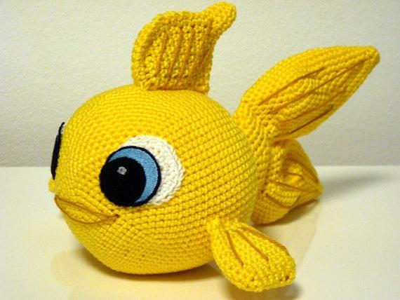 Crochet Pattern Goldfish Finley Amigurumi Pdf Cute Gold Fish Genuine