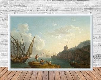 Jacob Philipp Hackert - Coastal landscape near Vietri, 1776,fine art reproduction, print after paint