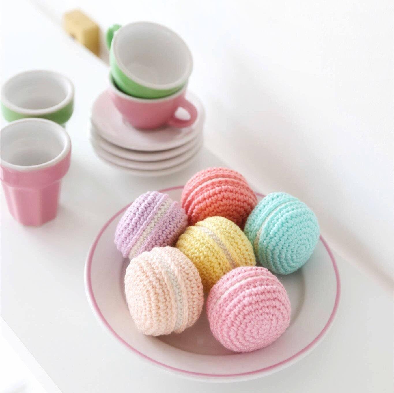 Spielen Essen häkeln Macarons / Süßigkeiten für Kinder Tee