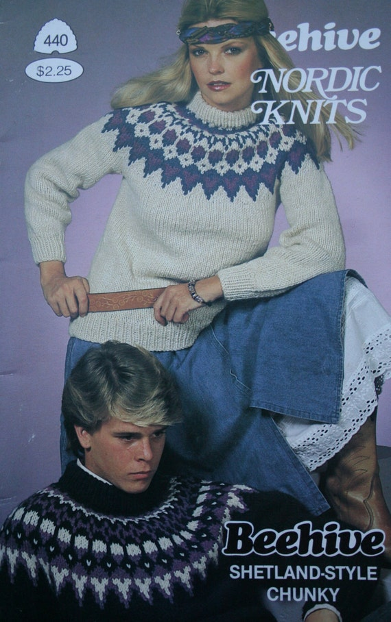 Sweater Knitting Patterns Nordic Knits Patons Beehive 440 Men