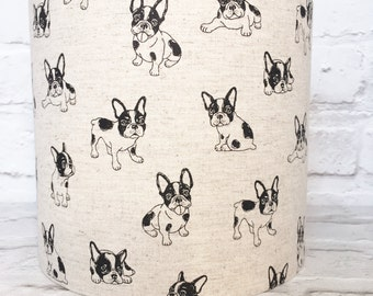 Standard lampshade etsy french bulldog lampshade boston terrier lamp shade 15cm 20cm 25cm 30cm dog pug mozeypictures