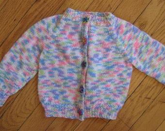lightweight knit baby sweater - 0 - 6 months