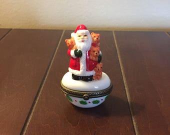 Santa Porcelain Hinged Box