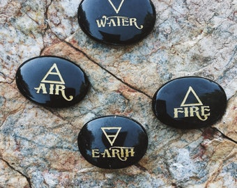 3: Four elements, 4 elements, Earth, Air, Wind, Fire, Cryatal, Quartz, Engraved Stones