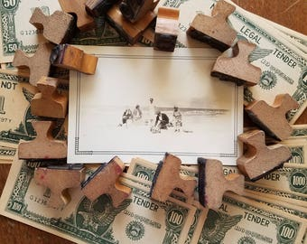 Vintage craft lot with play money